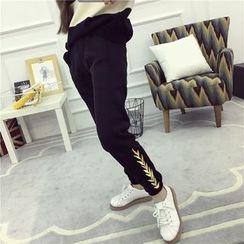 Bloombloom - Embroidered Sweatpants