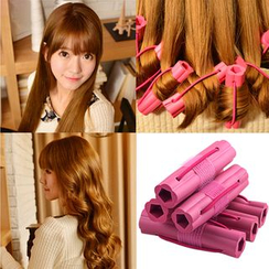 Dewy Kiss - Set: Hair Curlers + Hair Cutting Scissors
