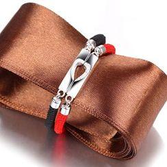 Zundiao - Sterling Silver Rhinestone Couple Bracelet