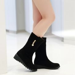 Pretty in Boots - Mid-Calf Boots