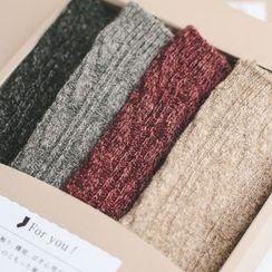 LIFEDIFF - Set of 4: Knit Socks