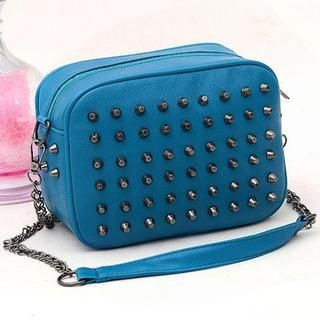 TAIPEI STAR - Faux-Leather Studded Cross Bag