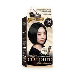 esfolio - Conpure Squid Ink Color Cream (#1N Black): Hairdye 80g + Oxidizing Agent 80g + Hair Treatment 40g