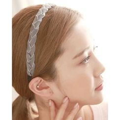 Miss21 Korea - Braided Fabric Hair Band
