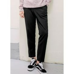JOGUNSHOP - Pin-Tuck Front Dress Pants