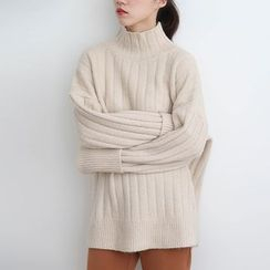 ELLY - High-Neck Oversized Sweater