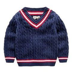 Kido - 童装V领毛衣