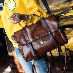 Bag Affair - Faux Leather Carryall Bag