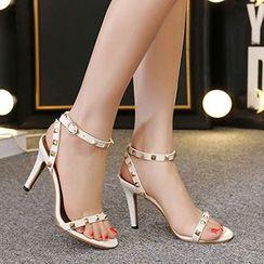 CITTA - Studded High Heel Sandals
