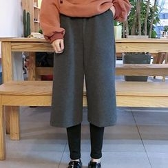Melon Juice - Inset Leggings Cropped Wide Leg Pants