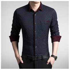 Danjieshi - Dotted Long-Sleeve Shirt