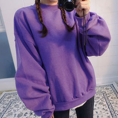 chuu - Boxy Crewneck Sweatshirt