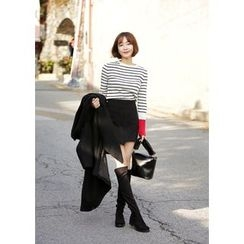 ssongbyssong - Wrap-Front Pencil Skirt