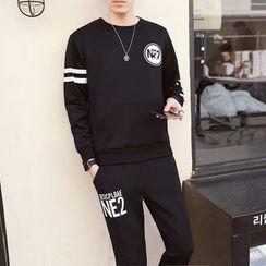 JORZ - 套装: 字母卫衣 + 运动裤