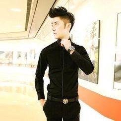 Fisen - Embellished Collar Shirt