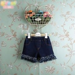 Kidora - Kids Fray Hem Denim Shorts