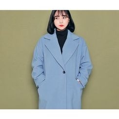 HOTPING - Single-Breasted Notched-Lapel Coat