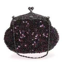 Bling Bag - Sequined Kiss Lock Evening Handbag