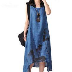 chic n' fab - Print Sleeveless Midi Dress