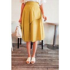 Cherryville - Band-Waist A-Line Skirt