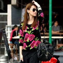 SO Central - Rose Print Sweater