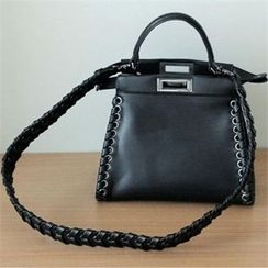 YOOM - Braided Detail Faux-Leather Tote