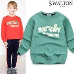 WALTON kids - Boys Lettering Cotton Sweatshirt
