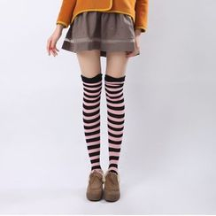 Flotide - Striped Over-the-Knee Socks