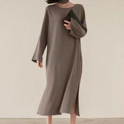BOHIN - Plain Long-Sleeve Knit Dress