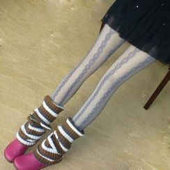 Flotide - Cable Knit Fishnet Tights