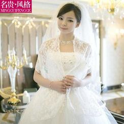Luxury Style - Lace Perforated Wedding Cardigan