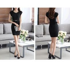 Caroe - Cap-Sleeve Sheath Dress