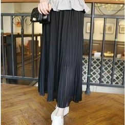 QZ Lady - Pleated Chiffon Maxi Skirt