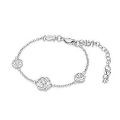 Kenny & co. - 925 Silver Rabbit C. Rose Bracelet with Crystal