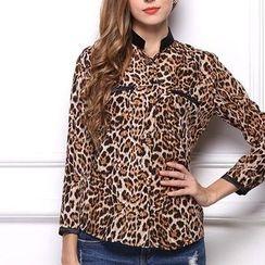 LIVA GIRL - 豹紋襯衫