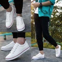 Komm - Stripe Plain Sneakers