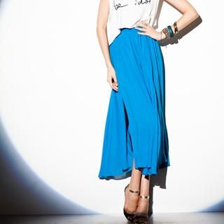 I-DOU - Slit-Side Maxi Skirt