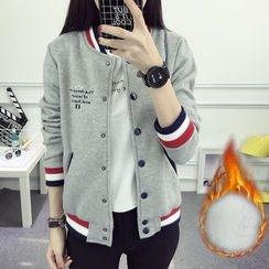 nika nila - Embroidered Buttoned Baseball Jacket