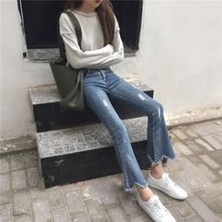 ever after - Cropped Boot Cut Jeans
