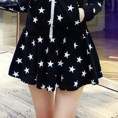 Dabuwawa - Star Print Pleated Skirt