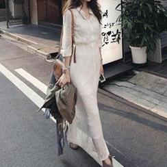 Dowisi - Set: Maxi Lace Shirtdress + Slipdress