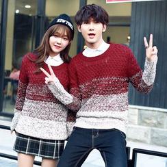 Bonne Nuit - Couple Matching Melange Knit Top