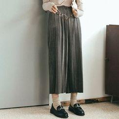 Porta - Accordion Wide-leg Pants
