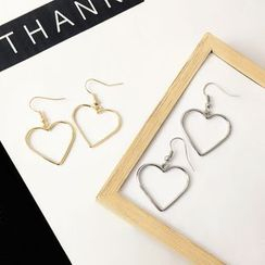 HEDGY - Heart Dangle Earrings