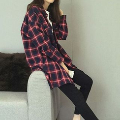 KAKAGA - Plaid Long Shirt