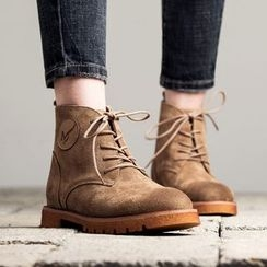 MIAOLV - Lace-Up Short Boots