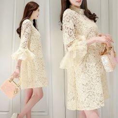 Romantica - Set: Lace A-Line Dress + Slipdress