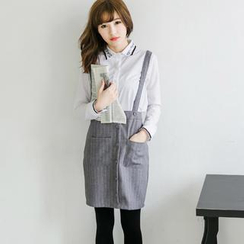Tokyo Fashion - Striped Suspender Skirt