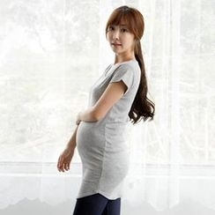 Maternity Basic - Maternity Cotton Scoop-Neck T-Shirt