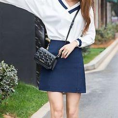 Loverac - Plain A-Line Skirt
